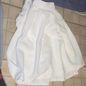 Pretty Little Thing Pure white school skirt